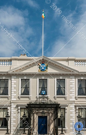Irish Flag flying over Mansion House, MANSION HOUSE DUBLIN, © Michael O'Farrell Photography